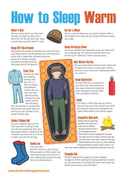 How to Sleep Warm - Infographic